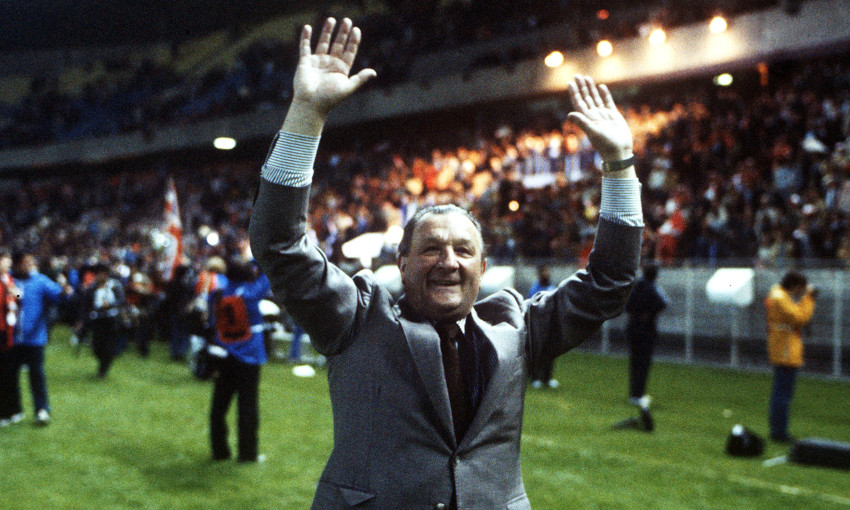 Bob Paisley celebrates winning the European Cup in 1981