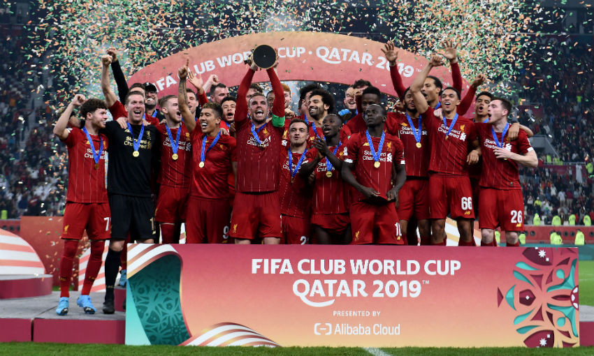 Liverpool FC lift FIFA Club World Cup trophy