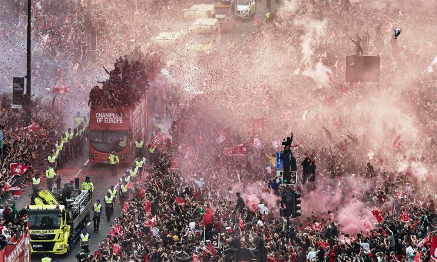 Liverpool FC's 2019 Champions League trophy parade