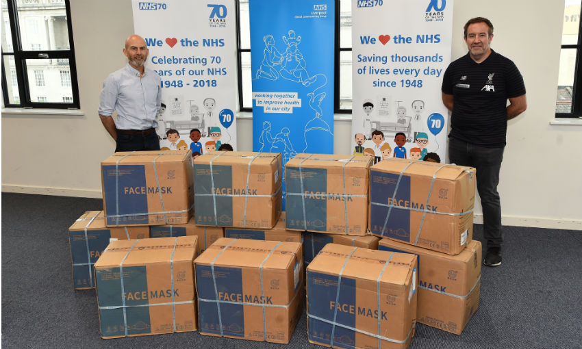 LFC Foundation donates face masks to Liverpool CCG