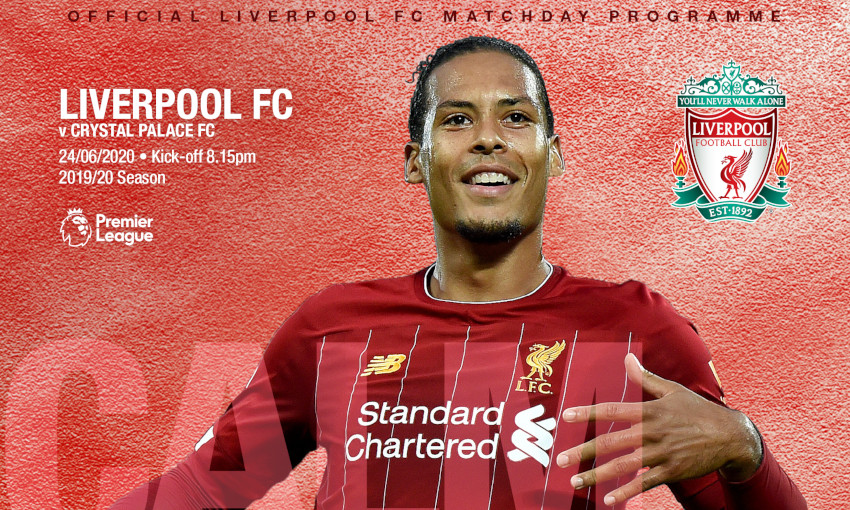 Liverpool v Crystal Palace matchday programme