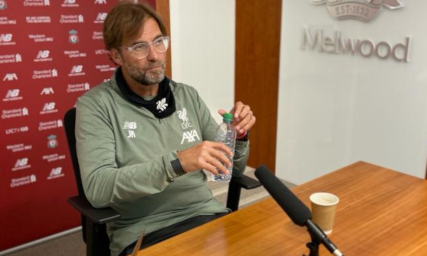 Photos: Behind the scenes of Klopp's first virtual press conference -  Liverpool FC