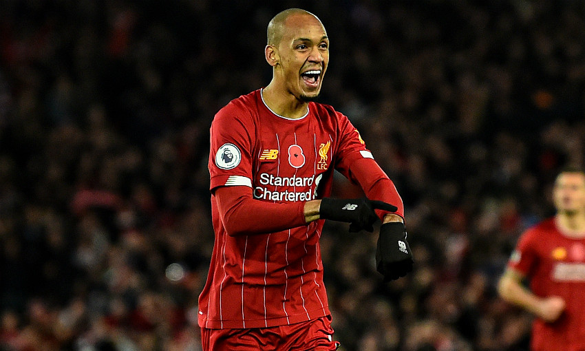 Pre Palace Stats Fabinho Landmark 100 Goals And Anfield Record Liverpool Fc