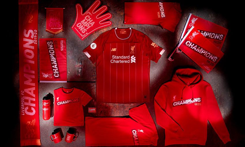 buy now the official lfc premier league champions range liverpool fc the official lfc premier league