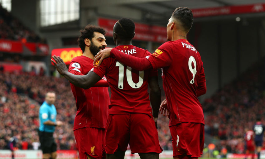 Salah, Firmino and Mane of Liverpool FC