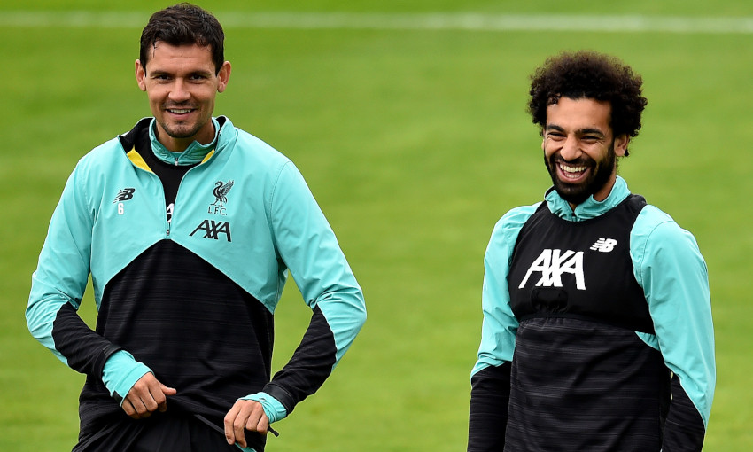 Dejan Lovren and Mohamed Salah