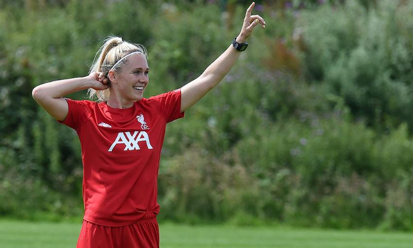 Amalie Thestrup of Liverpool FC