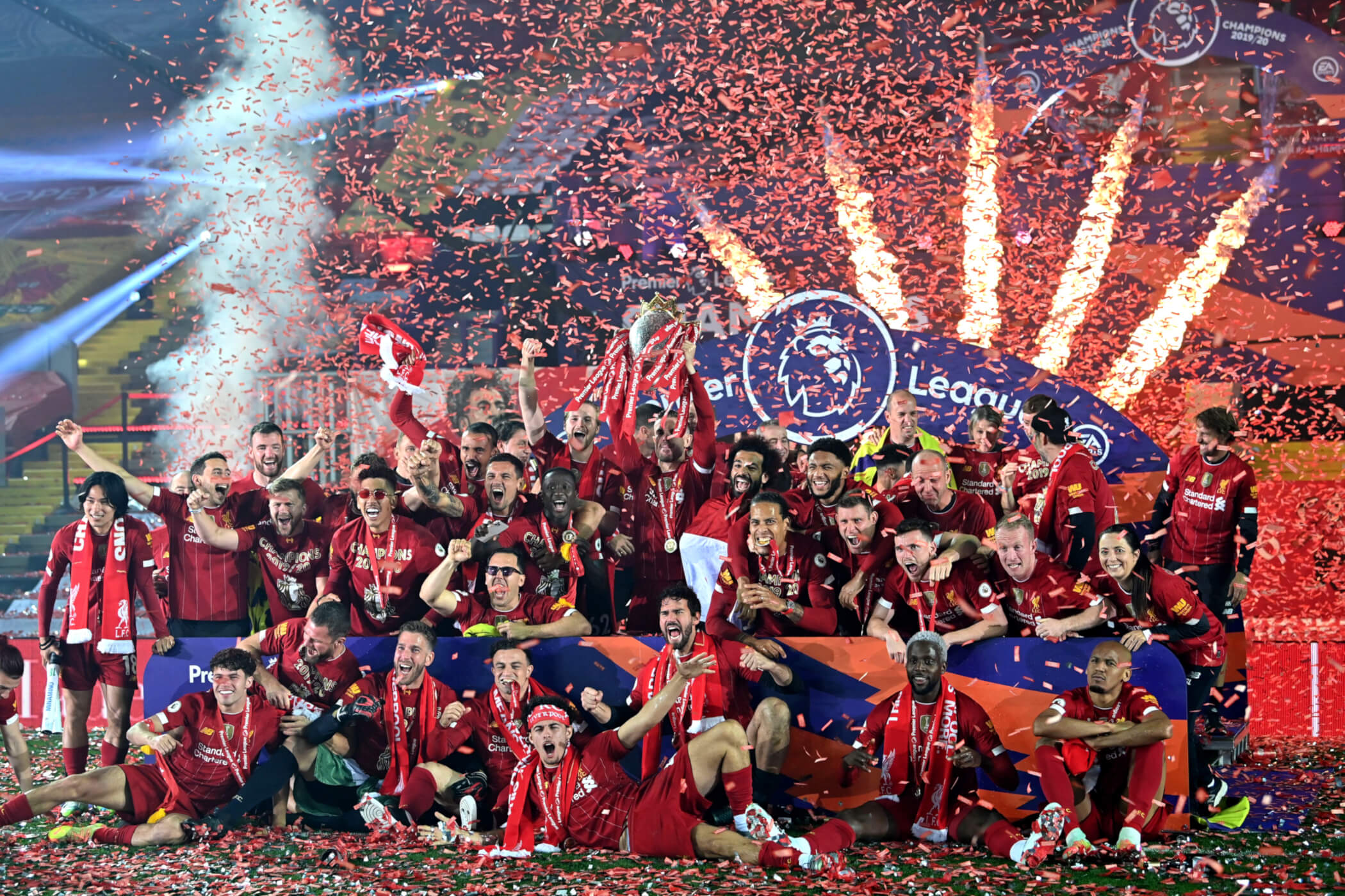 Photo Gallery Liverpool Lift The Premier League Trophy At Anfield Liverpool Fc