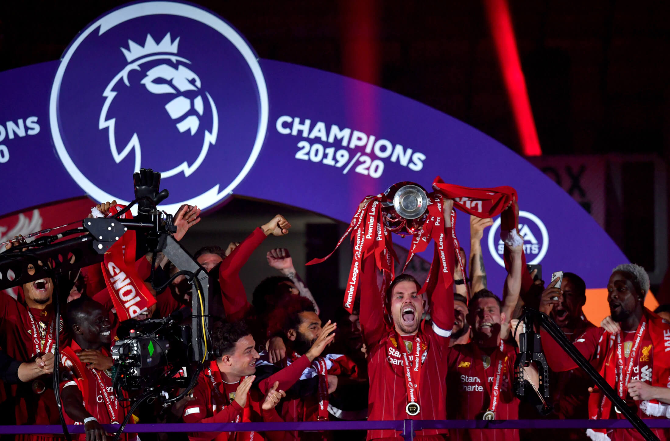 photo gallery liverpool lift the premier league trophy at anfield liverpool fc the premier league trophy at anfield