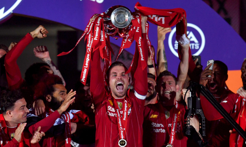 Photo gallery: Liverpool lift the Premier League trophy at Anfield ...