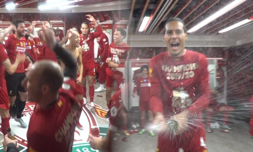 Premier League trophy lift
