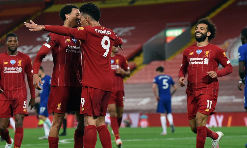 Liverpool celebrate against Chelsea