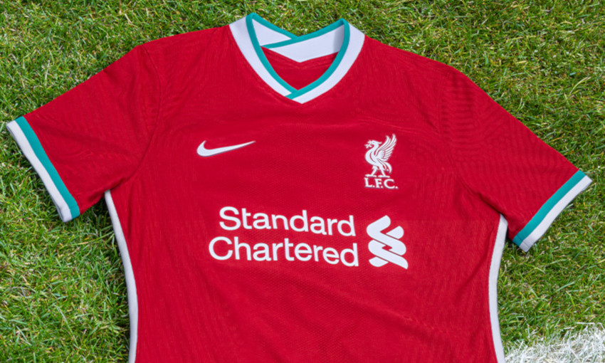 out now liverpool s 2020 21 nike home kit liverpool fc liverpool s 2020 21 nike home kit