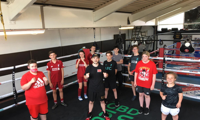 Kicks Inclusion participants at Derry Matthew Boxing Academy in city centre