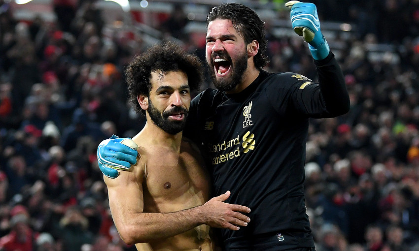 Mohamed Salah and Alisson Becker