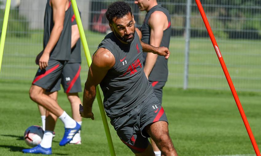 Mohamed Salah in training