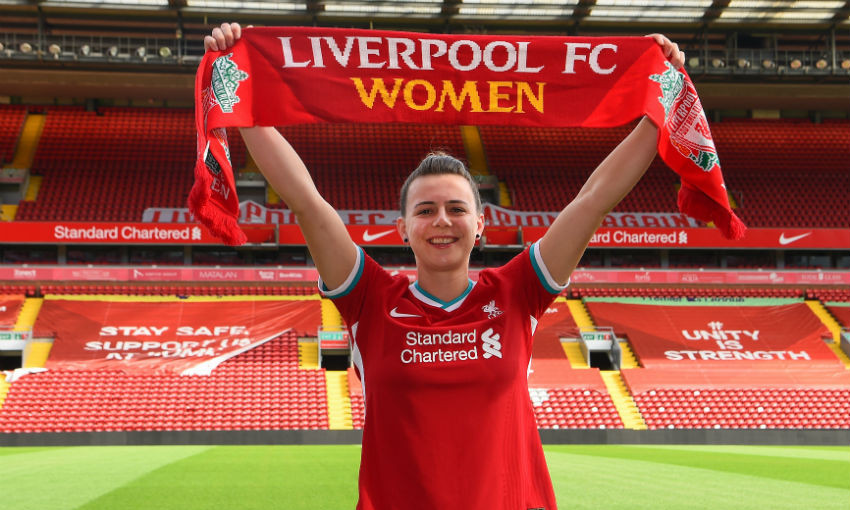 Meikayla Moore signs for Liverpool FC Women