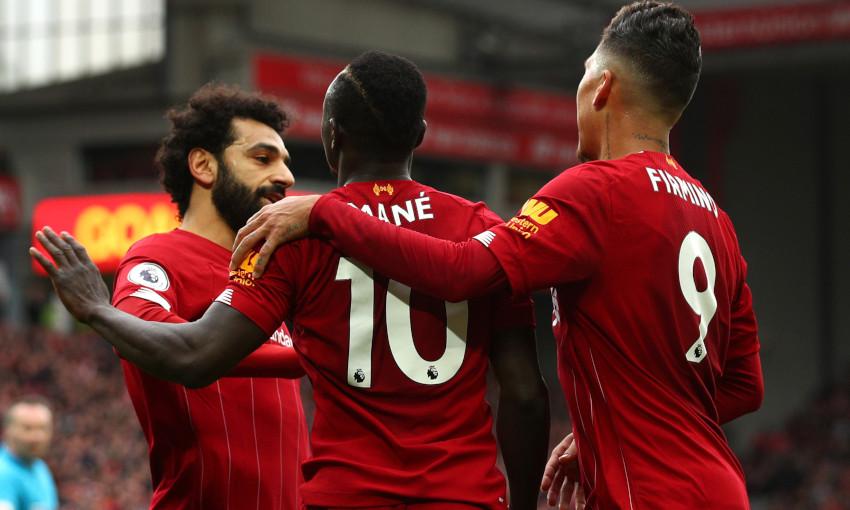 Mohamed Salah, Sadio Mane and Roberto Firmino