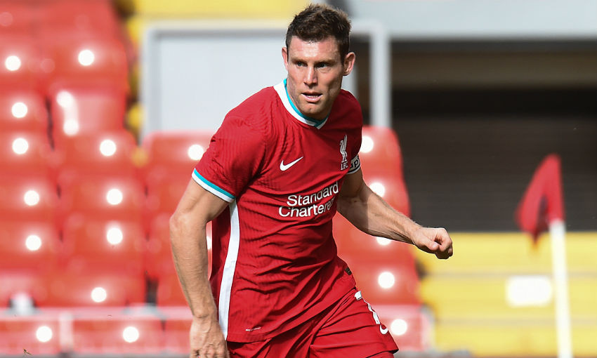 James Milner of Liverpool FC