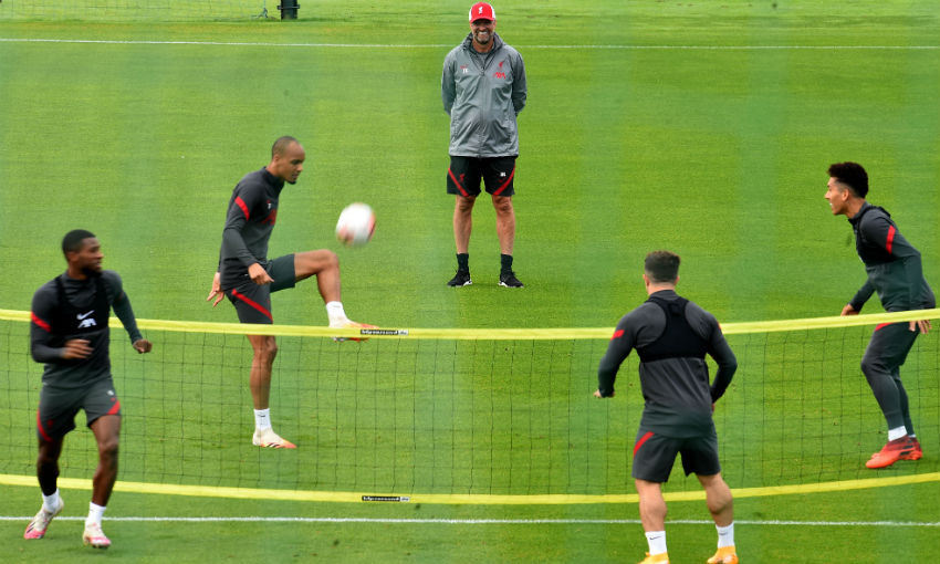 Liverpool FC training session at Melwood, September 16, 2020