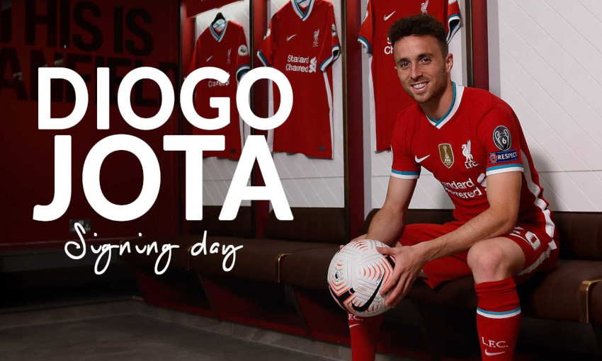watch behind the scenes as diogo jota became a red at anfield liverpool fc watch behind the scenes as diogo jota