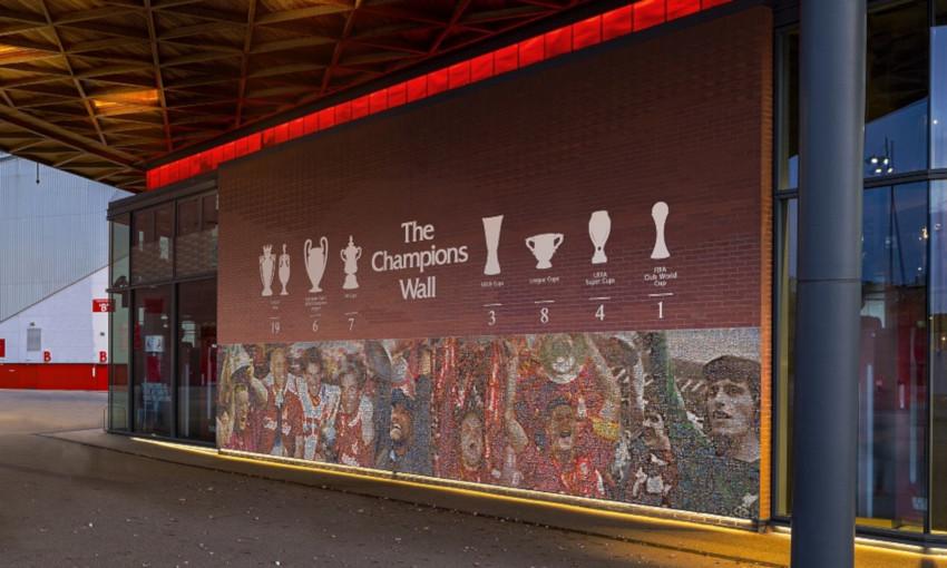 Champions Wall at Anfield