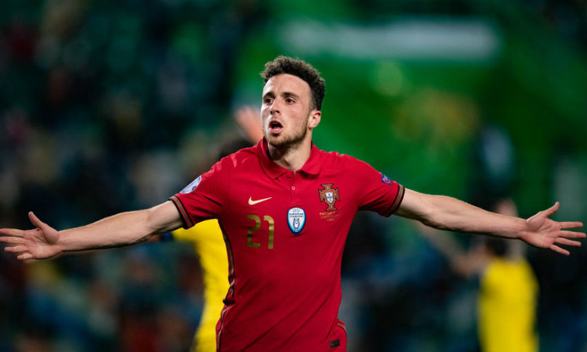 Diogo Jota of Liverpool FC and Portugal