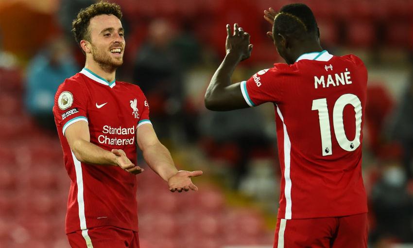 Diogo Jota celebrates goal for Liverpool v Sheffield United