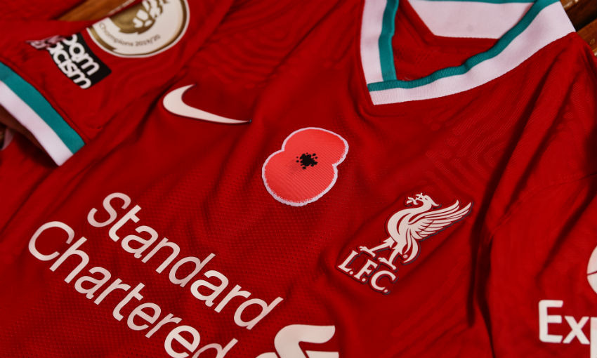 Liverpool FC supports 2020 Poppy Appeal