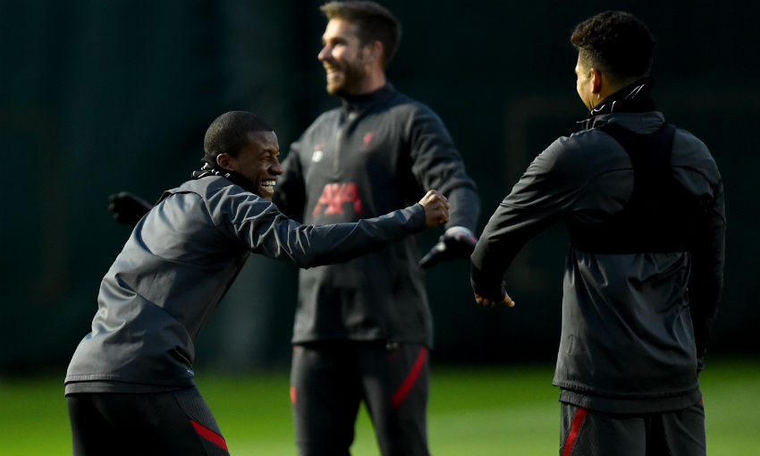 Liverpool FC training session at Melwood, October 29, 2020