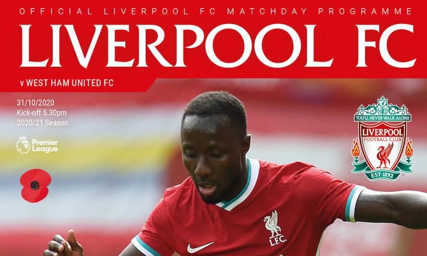 Liverpool v West Ham United matchday programme
