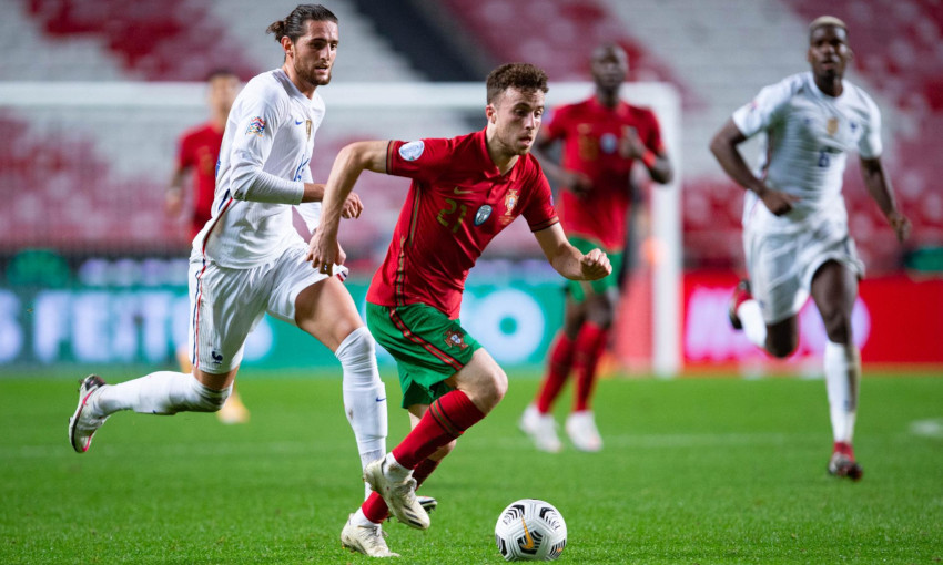 Diogo Jota in action for Portugal