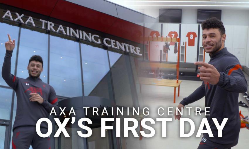 Alex Oxlade-Chamberlain, AXA Training Centre