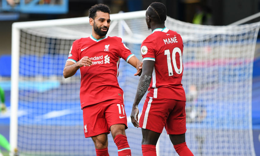 Sadio Mane and Mohamed Salah of Liverpool FC