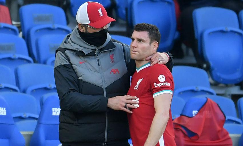 Klopp consoles Milner in Brighton 1-1 Liverpool fixture
