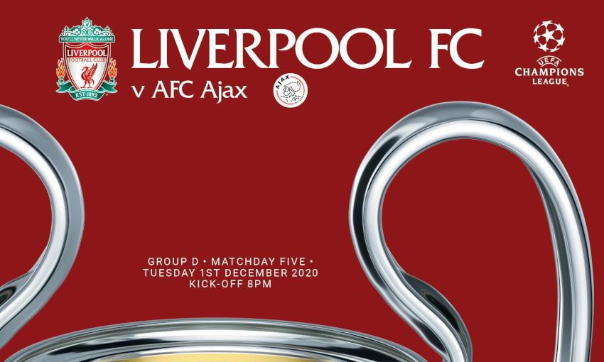 Liverpool v AFC Ajax - 1/12/2020