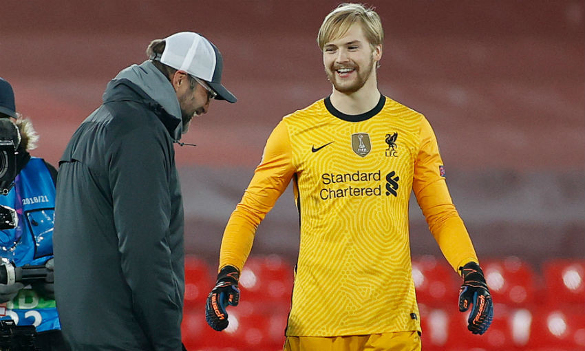 Caoimhin Kelleher of Liverpool FC