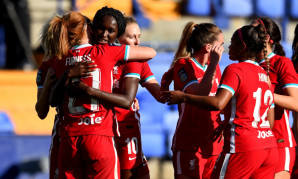 Liverpool FC Women celebrate