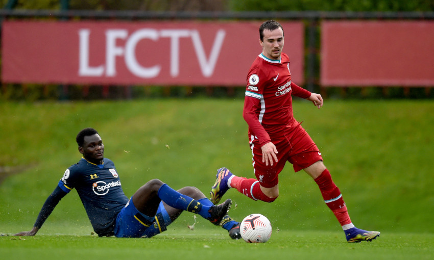 Liam Millar in action for Liverpool U23s