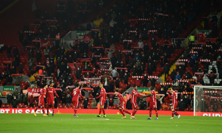 Fans return to Anfield for Liverpool v Wolves