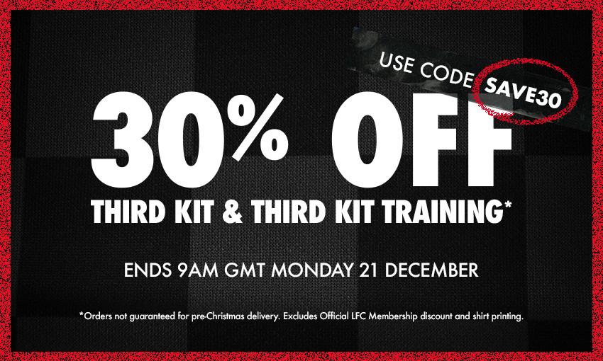 Liverpool FC third kit sale