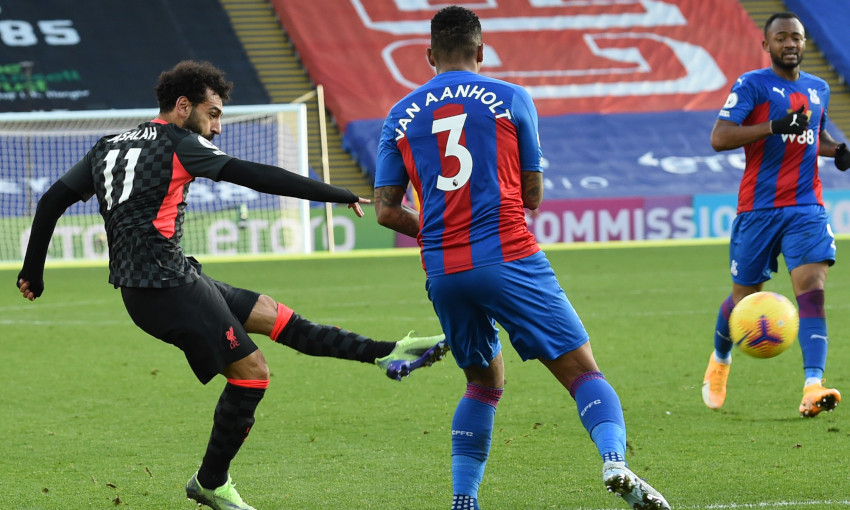 Mohamed Salah scores against Crystal Palace