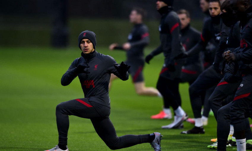 Liverpool training at AXA Training Centre