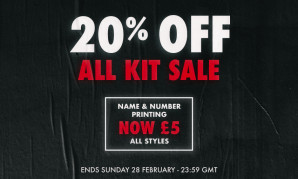 SALE: Get 20% off all Liverpool FC kits now
