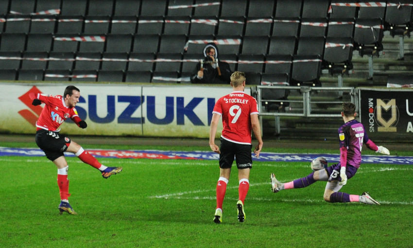 Liam Millar scores for Charlton Athletic
