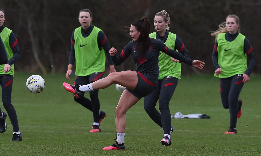 Liverpool FC Women training session, February 24, 2021