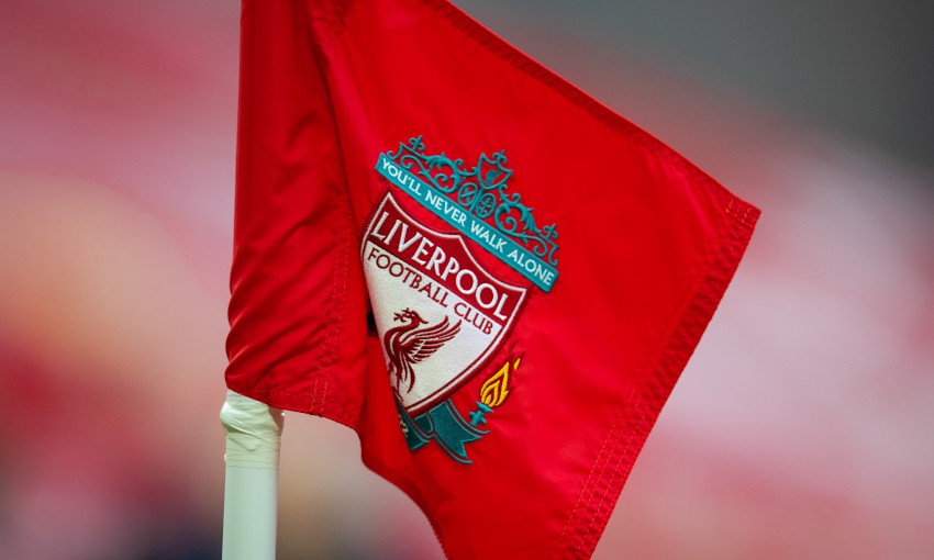 Generic view of a corner flag at Anfield