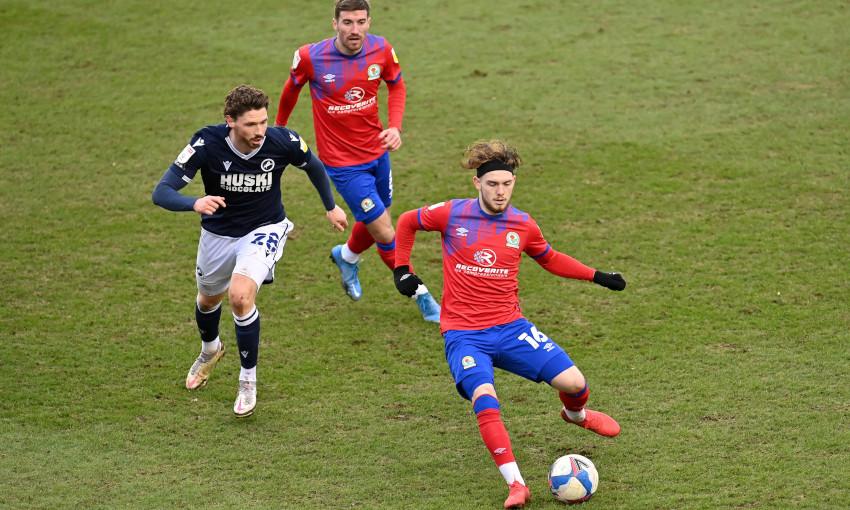 Harvey Elliott in action for Blackburn Rovers