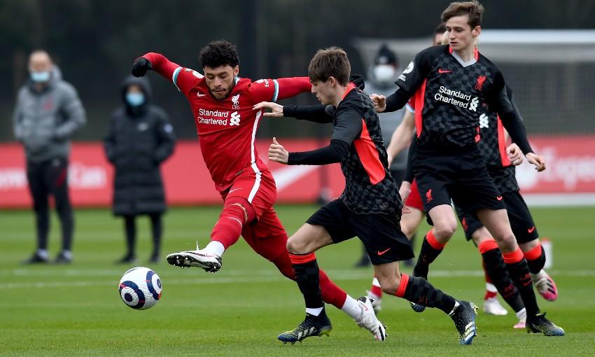 Liverpool FC internal match at AXA Training Centre