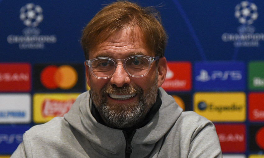 Jürgen Klopp at a Champions League press conference